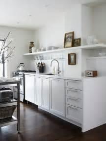 White Kitchen Cabinets Open Shelves