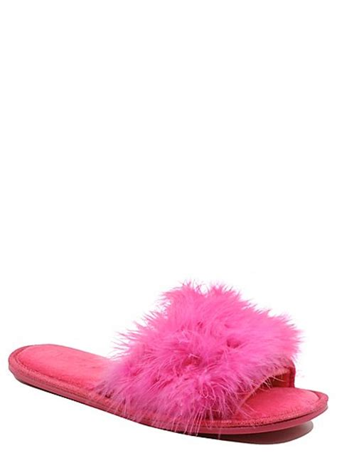 fluffy slippers for tickled pink fluffy slippers george at asda
