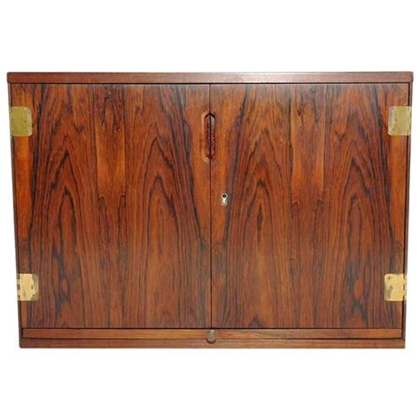 Bar Wall Cabinet by Wall Mounted Rosewood Bar Cabinet By Svend Langkilde At