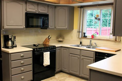 Gray Painted Kitchen Cabinets by 645 Workshop By The Crafty Cpa Work In Progress Painting