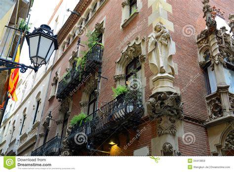 casa marti els quatre gats casa mart 237 barcelona spain stock image