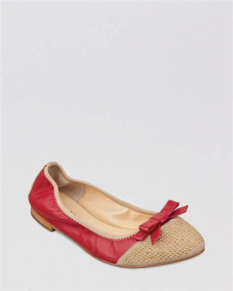 ivanka flats shoes ivanka ballet flats lori two tone bow in beige