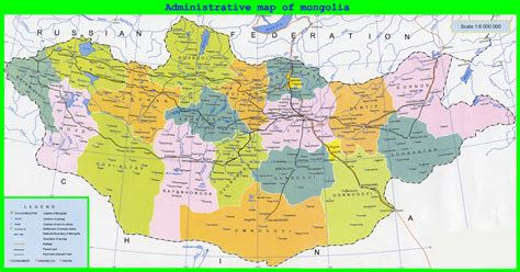 map of the large detailed administrative map of mongolia mongolia
