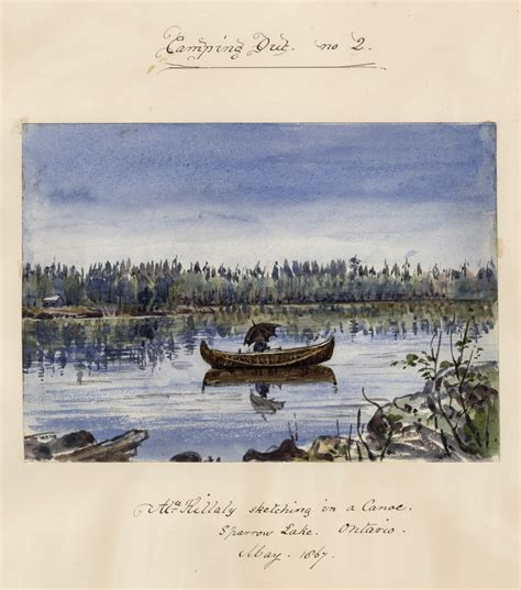 canoes gravenhurst cing out no 2 alice killaly sketching in a canoe
