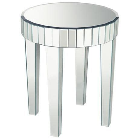 mirrored end table candice mirrored end table