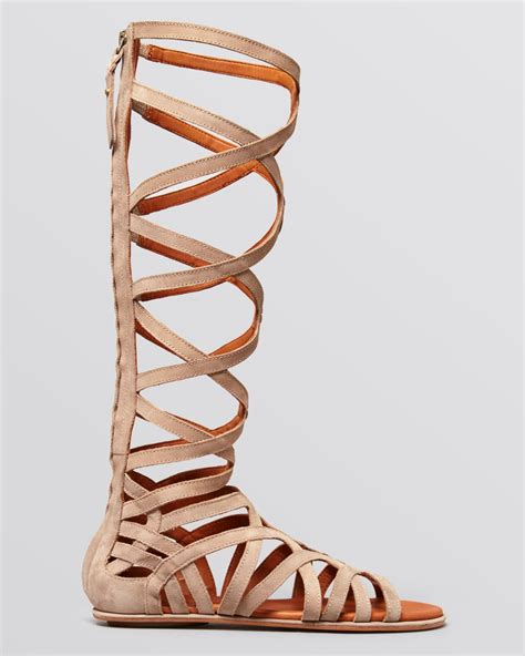 gentle souls sandals lyst gentle souls flat gladiator sandals make or
