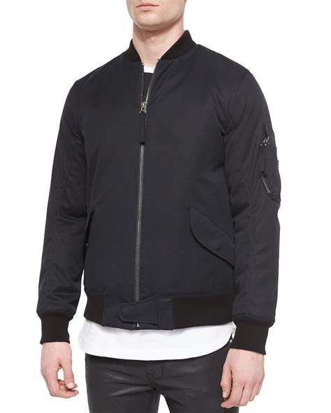 Jaket Bomber Motor Browngreen Army helmut lang twill army bomber jacket in green for lyst
