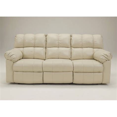 signature leather reclining sofa signature design by furniture kennard leather