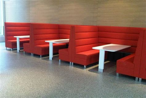 Banquette Booths by Horizontal Channel Back Booths I Like The Yellow For The