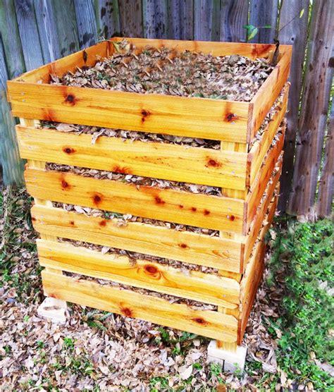diy compost bin  garden plans   build garden