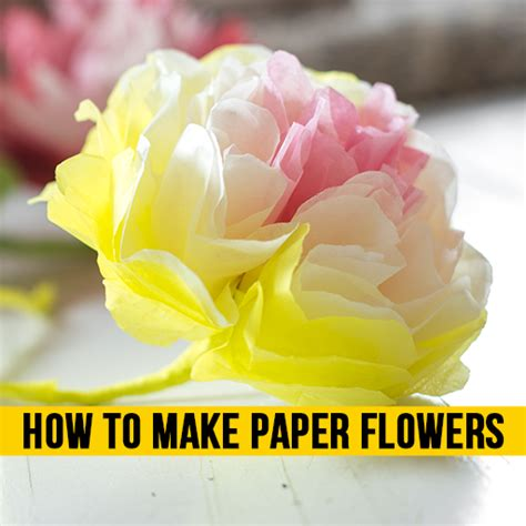 How To Make Paper Flowers At Home - how to make paper flowers coffee pigs