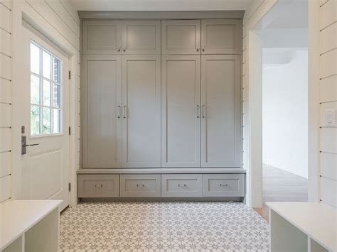 shiplap gray cool cabinet paint color is sherwin williams dorian gray