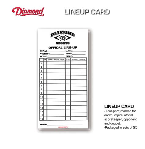 line card template excel 28 images of blank softball line up sheet template