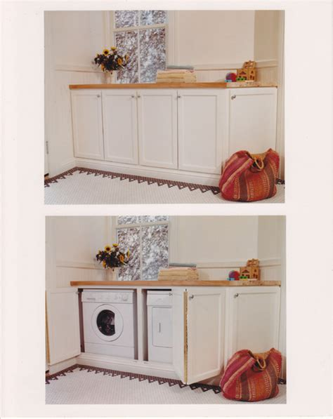 Small Half Bathroom Decorating Ideas Washer Amp Dryer Cabinet Traditional Laundry Room
