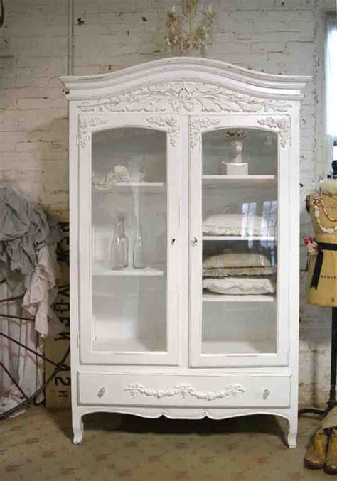 painted cottage chic shabby armoire wardrobe