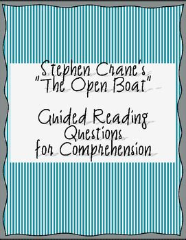 the open boat pdf stephen crane crane s quot the open boat quot guided reading questions by