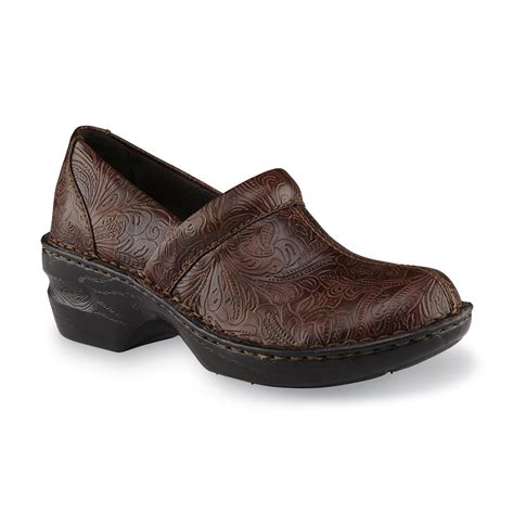 Flat Shoes Artikel Va11 river blues s coby brown floral embossed clog