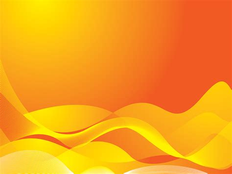Orange Waves Powerpoint Templates Abstract Orange Yellow Free Ppt Backgrounds And Templates Orange Powerpoint Templates