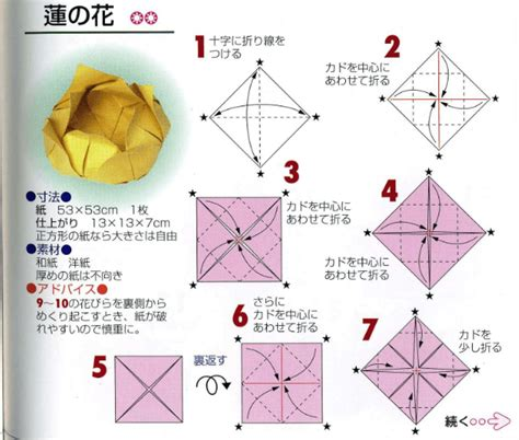Box Flower Origami - origami lotus flower tutorial paper kawaii
