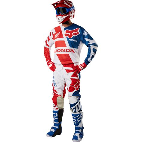 fox honda motocross 2018 fox racing 180 honda gear kit red sixstar racing