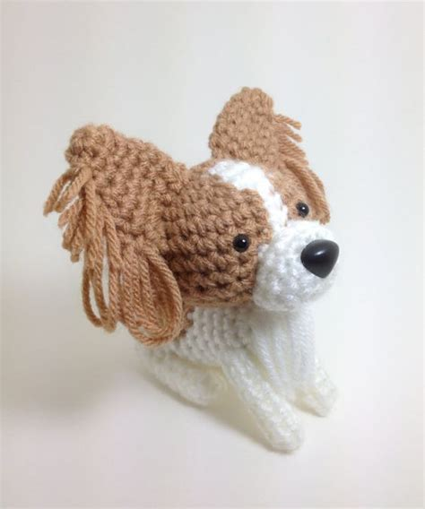 papillon stuffed animal amigurumi dog crochet puppy plush