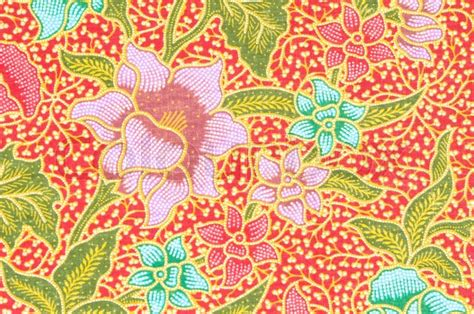 batik design style history flower pattern background on batik fabric thai style