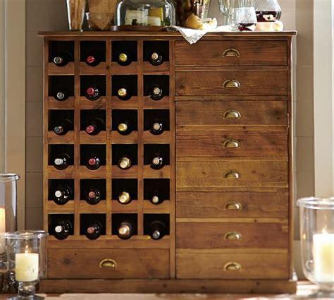 Everett Reclaimed Wood Wine Cabinet Pottery Barn