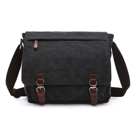 Canvas Bag Ukuran Besar 2 new arrival canvas leather crossbody bag army vintage messenger bags postman large