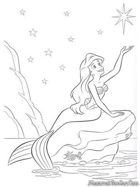 mewarnai gambar in a mermaid tale mewarnai gambar