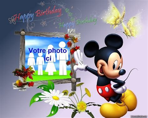 cadre azyme photo anniversaire mickey