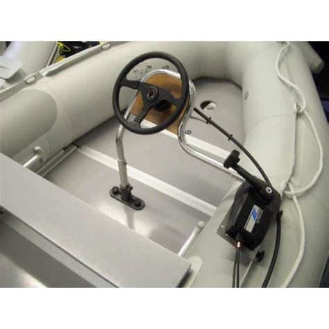 boat steering wheel gear box inflatable boat stainless console with steering control system