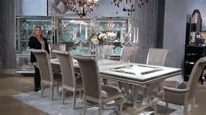 Glam Dining Room Sets Swank Rectangular Glam Dining Room Set By
