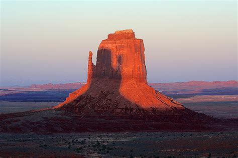Lucky Home by Monument Valley Right Mitten At Sunset With Shadow Of