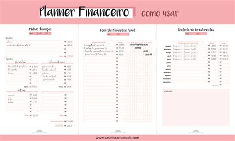 planner casa planner financeiro para casinha arrumada