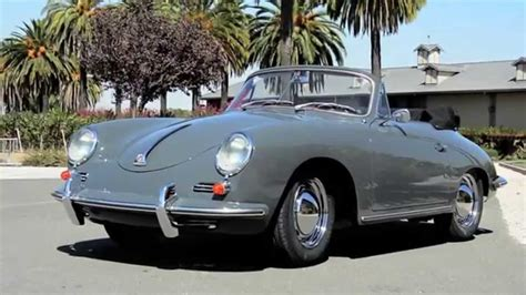 slate grey porsche 1960 porsche 356 cabriolet slate grey red leather youtube