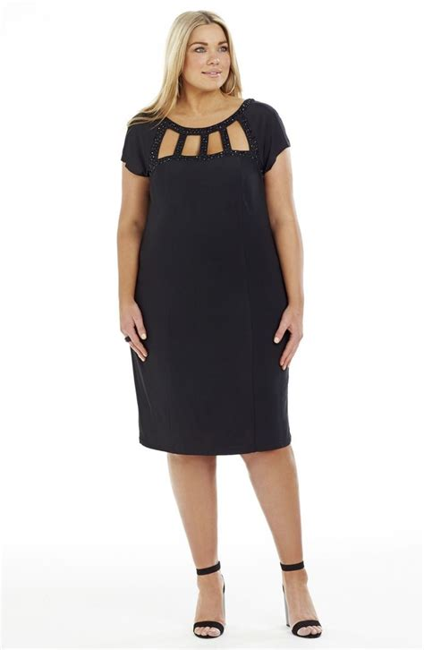 how to dress when short and heavy cutout neckline party dress black style no ed5141 heavy