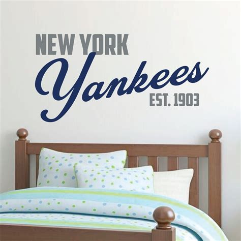 New York Yankees Home Decor New York Yankees Yankee Wall Decal Baseball Decorations Customvinyldecor