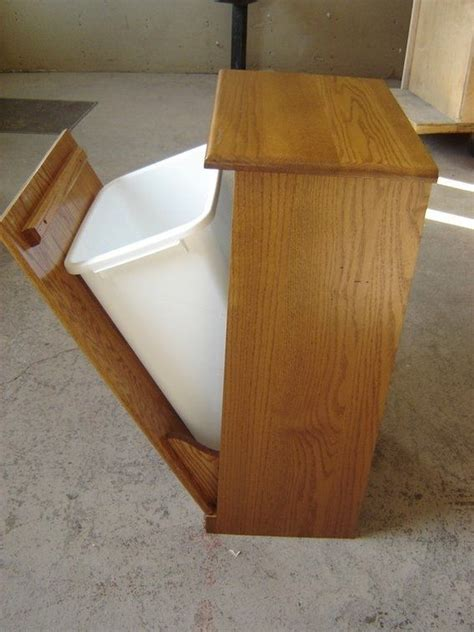 wooden garbage can project     Wood Garbage Bin   Trash