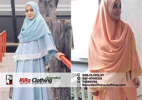Busana Muslim Khimar Konveksi Baju Muslim Khimar Rira Clothing Konveksi