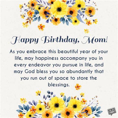 birthday prayers  mothers bless  mom
