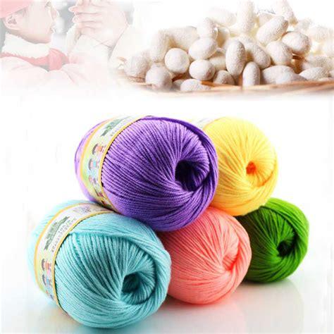 multi color yarn sale multi color cotton silk knitting yarn soft warm