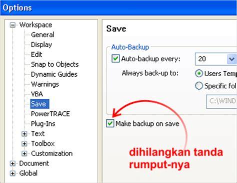 Mahir Dalam 7 Hari Adobe Premiere Pro Cs3 Diskon cara nonaktifkan auto backup di coreldraw tutorial komputer indonesia