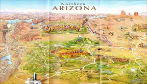 northern arizona map arizona the paregien journal