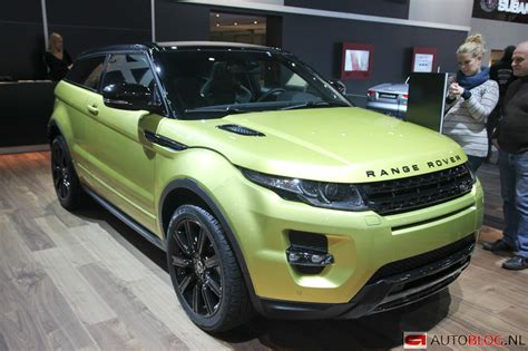 land rover yellow beurzen brussel 2013 range rover evoque sicilian yellow
