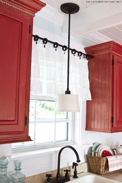 Tension Rods For Windows Ideas 25 Best Ideas About Kitchen Curtains On Kitchen Window Treatments Kitchen Valances