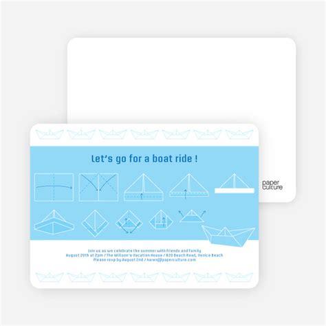 origami boat party invitations paper culture - Origami Boat Invitation