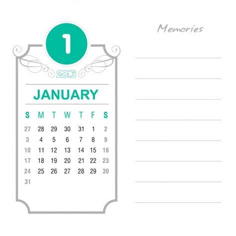 Calendario Enero 2016 Calendario Enero 2016 Vintage Descargar Vectores Gratis