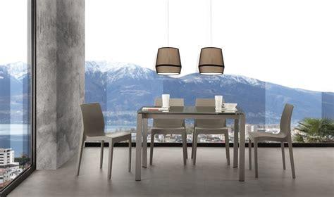 tavolo da cucina in vetro tavolo allungabile omni
