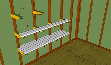 Garage Shelving Woodworking Plans Custom Diy Wood Wall Mounted Garage Storage Shelves Plans