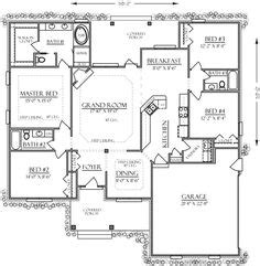 Sequoia Floor Plan Like The Kitchen Lounge Dining Area On Country House Plans With No Dining Room